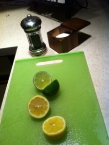 Lemon, lime, spices