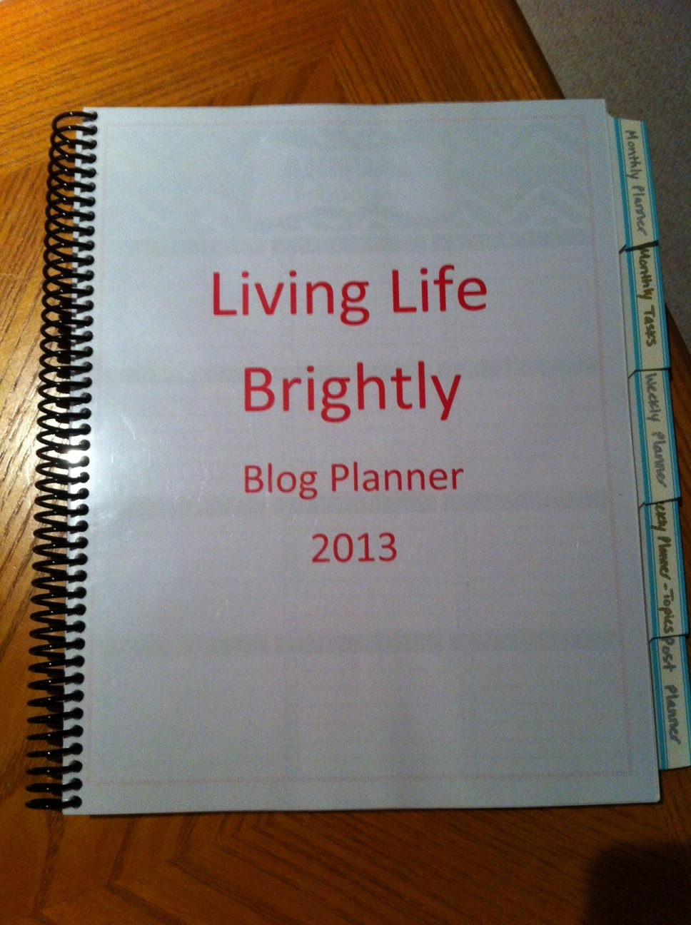DIY Blog Planner