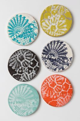 Lacework coasters from Anthropologie ($6 each)