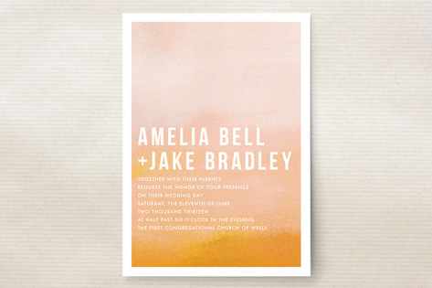 Source: Minted - if you don't know this site, you need to. It's like Etsy for graphic designers. I love these gorgeous ombre wedding invitations