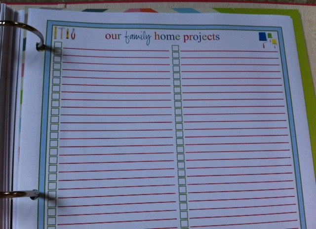 Keep track of home projects