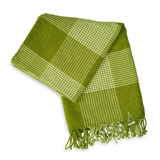 Jovi-Home-Bucolic-Chenille-Throw-in-Green