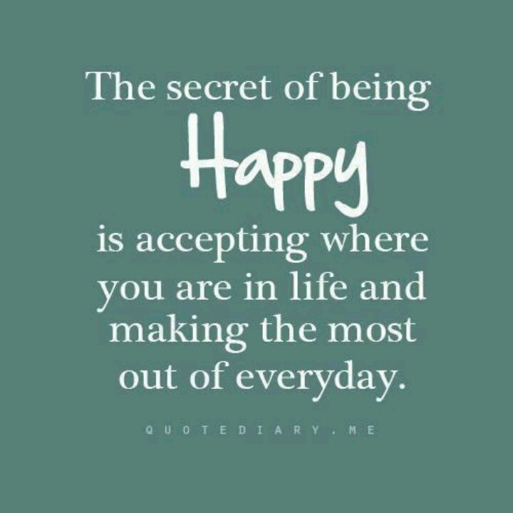 Friday: The Secret of Being Happy